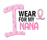 I Wear Pink Ribbon My Grandma Grandmother