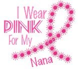 Support Breast Cancer Awareness Month Flower Nana