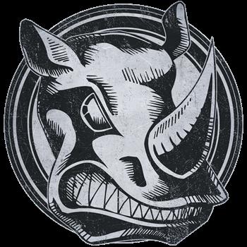 Distressed Wild Rhino Stamp