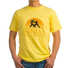 ninja4a-black Yellow T-Shirt