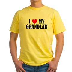 I Love My Grandlab Yellow T-Shirt