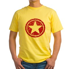 Red Circle Star black shirt Yellow T-Shirt