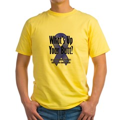 Colorectal Cancer Awareness Ash Grey Yellow T-Shirt