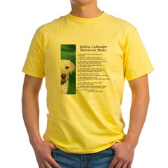 Yellow Lab Rules Yellow T-Shirt