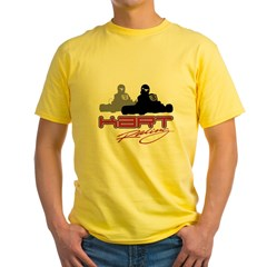 Kart Racing Ash Grey Yellow T-Shirt