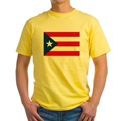 Puerto Rican Flag Ash Grey Yellow T-Shirt