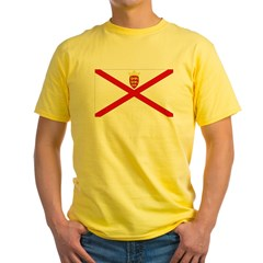 Jersey Flag Ash Grey Yellow T-Shirt