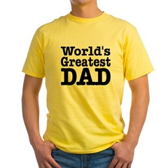 World's Greatest Dad Ash Grey Yellow T-Shirt