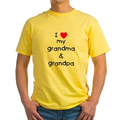 I love my grandma & grandpa Yellow T-Shirt