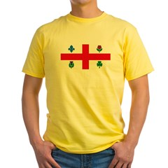 Montreal Flag Yellow T-Shirt