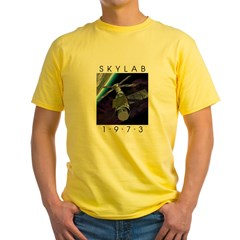Shrox Space Art Skylab Yellow T-Shirt