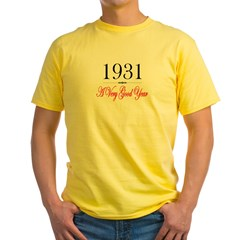 1931 Ash Grey Yellow T-Shirt