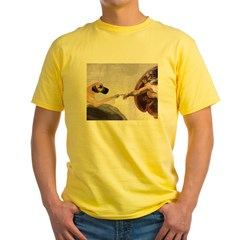 Great Dane Ash Grey Yellow T-Shirt