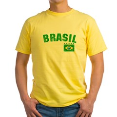 BRAZIL-BLACK-worn Yellow T-Shirt