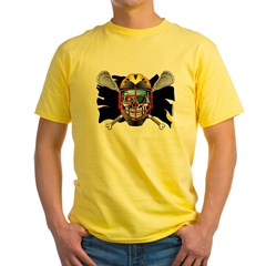 Pirate Lacrosse @ eShirtLabs Yellow T-Shirt