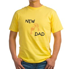 New Dad PINK Yellow T-Shirt