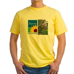 Eye on Gardening Tropical Plants Yellow T-Shirt