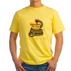 DontTread-BLK2 Yellow T-Shirt