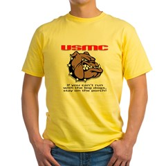 USMC Brown Bulldog Yellow T-Shirt