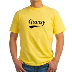 Vintage: Gaven Yellow T-Shirt