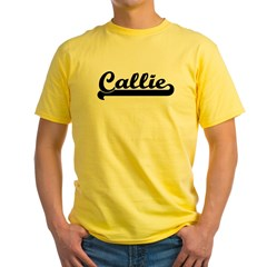 Black jersey: Callie Ash Grey Yellow T-Shirt