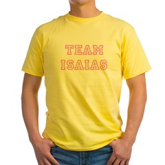 Pink team Isaias Ash Grey Yellow T-Shirt