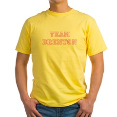 Pink team Brenton Ash Grey Yellow T-Shirt