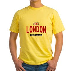 London England Ash Grey Yellow T-Shirt