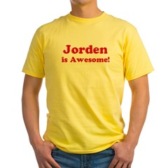 Jorden is Awesome Ash Grey Yellow T-Shirt