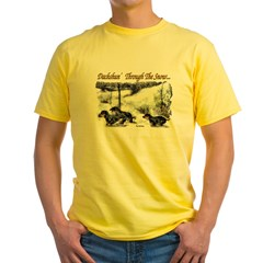 Dachshund Christmas Yellow T-Shirt