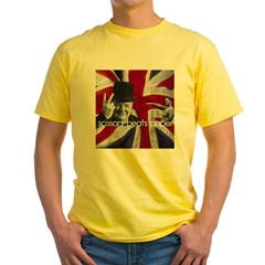 Scissors beats paper Yellow T-Shirt