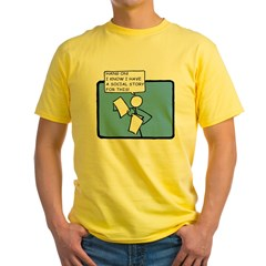 Hang On! (Social Story) Ash Grey Yellow T-Shirt