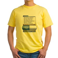 Fukitol Ash Grey Yellow T-Shirt