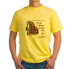 HeWhoSings_8x8transp_apparel Yellow T-Shirt