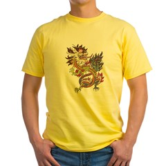 dragon10Black Yellow T-Shirt
