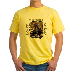 Lion of Judah 11 Ash Grey Yellow T-Shirt