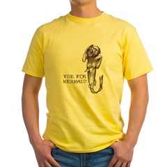 Fiji Mermaid Men''s Yellow T-Shirt