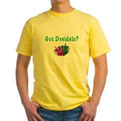 Got Dreidels Hanukkah Yellow T-Shirt