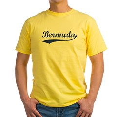 Blue Vintage: Bermuda Ash Grey Yellow T-Shirt