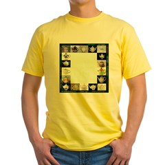 printed both sides, Yellow T-Shirt