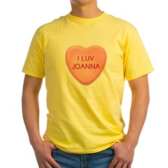 I Luv JOANNA Candy Heart Yellow T-Shirt
