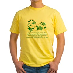 Irish Blessing Ash Grey Yellow T-Shirt