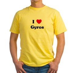 I love Gyros Yellow T-Shirt