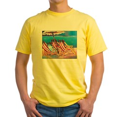 Beach Chairs Yellow T-Shirt