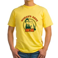Rosie Riveter Best Mom Yellow T-Shirt