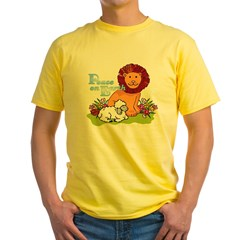 Lion & Lamb Peace On Earth Yellow T-Shirt
