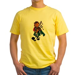 Jimmie the Scottish Piper Bear Yellow T-Shirt