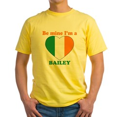 Bailey, Valentine's Day Yellow T-Shirt
