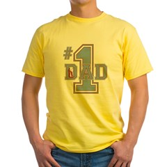 Number 1 Dad Yellow T-Shirt