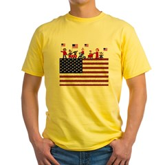 July 4th Yellow T-Shirt
